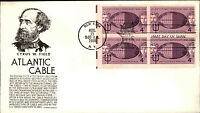 1958 USA US Cover Stamp Issue Honoring Atlantic Cable Ship Cancel NEW YORK Brief