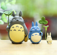 3pcs Studio Ghibli My Neighbor Totoro Resin Figure Model Toys Anime Statue
