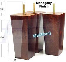4x Meuble en bois jambes, remplacement pieds Canapé Chaises Tabouret Hauteur 150 mm M8 (8 mm)