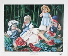 """""""Watermelon Raid"""" by Newell Boatman Offset Lithograph on Paper CoA 2010 LE 2750"""