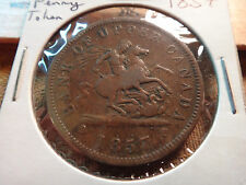 1857 Bank Of Upper Canada One Penny Bank Token - Free S&H USA