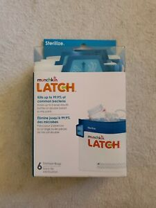 👶🍼Munchkin Latch Microwave Sterilize Bags, 180 Uses, 6 Pack (NEW & SEALED)