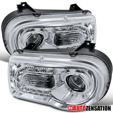 For 2005-2010 Chrysler 300C LED DRL Strip Clear Projector Headlights Lamps Pair