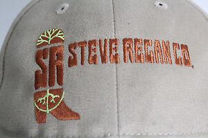 Steve Regan Cowboy Boot Tan Baseball Cap Hat Adjustable