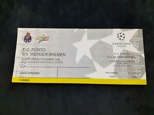 Porto vs Werder Bremen ticket entry Champions League 1993 soccer football