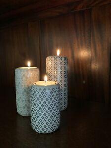 Next Trio Of Geo Ceramic Tea Light Holders