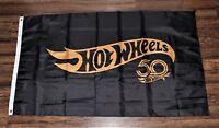 Hot Wheels Banner Flag 50 50th Anniversary Toy Cars Racing Man Cave USA Shipper