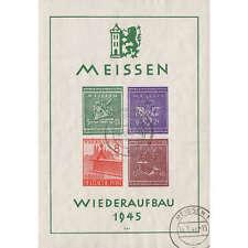 Deutsche Lokalausgabe Meissen Block 1 gestempelt geprüft und signiert