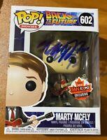 Michael J Fox Signed BTTF 2018 Fan Expo Marty McFly 602 Funko Pop - BAS F14327