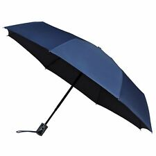 miniMax Automatic Open & Close Compact Windproof Folding Umbrella Brolly – Navy