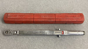 """Snap-on 1/2"""" Drive Flex Head Click Type Torque Wrench With Case TQR-200"""