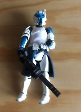 "Hasbro Star Wars Clone Trooper Gunner 2005 Loose Blue RARE 3.75"""
