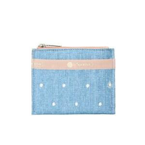 LeSportsac Classic Collection Small Wallet Purse in Denim Dot NWT