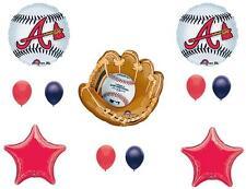 ATLANTA BRAVES BASEBALL Birthday Party Balloons Decoration Supplies Game Glove