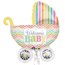 Baby Brights Carriage/Pram Shaped Supershape Foil Balloon