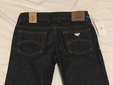 ARMANI Jeans Junior 16 Yrs 175 Cm AJ 04j02 Indigo Dark Denim Regular Fit