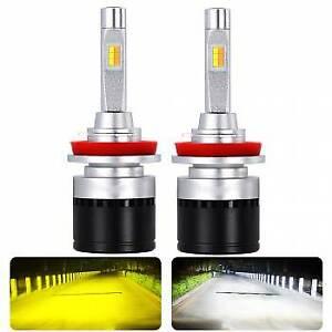 Super Bright Car LED Headlight Double Light Color: W / Y H1 H3 H7 H10 H11 H16