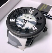 NEW! Tendence Round Gulliver Camouflage White 3H Polycarbonate Unisex Watch