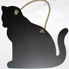 Hanging Cat Kitten Shape Chalkboard Memo Message Blackboard Home Wedding Gift