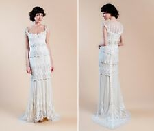 Claire Pettibone Wedding Dress(Kristene); Ivory, pristine condition, size 10