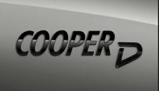MINI GENUINE F54 F55 F56 F57 F60 BLACK COOPER D BOOT BADGE EMBLEM 51142465248