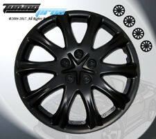 "15"" Inch Matte Black Hubcap Wheel Cover Rim Covers 4pc, Style Code 503 15 Inches"