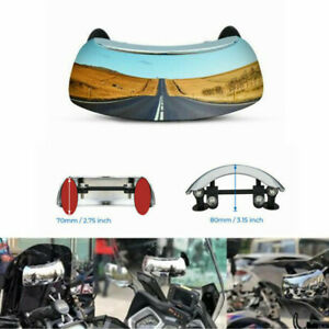 180 Degree Motorcycle Blind Spot Mirror Rear View Mirror Anti Glare Wide Angle