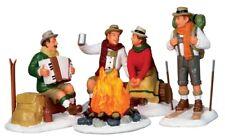 NEW LEMAX CHRISTMAS VILLAGES Alpine Ski Party, Set Of 4 #14356