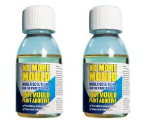 2X No More Mould Fungicidal Anti Mould Paint Additive Treatment Prevention 100ml