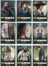 Walking Dead Season 4 Part 1 Complete Bios Chase Card Set C1-9