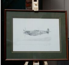 Spitfire 1A 19 Squadron 1940 by Keith Mallen - limited edition, framed & signed.