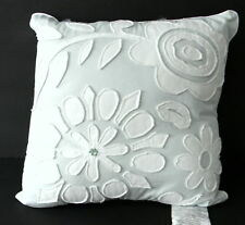 Lisette Square Applique Throw Pillow 16 in x 16 in Soft Blue