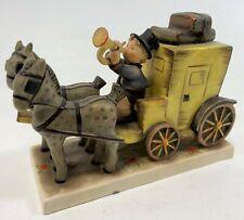 "Vintage 6"" Hummel Goebel West Germany 1952 226 Boy Carriage Stagecoach Figurine"