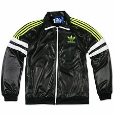 ADIDAS ORIGINALS M CHILE 62 TREFOIL TRAINING JACKE TRACK TOP SCHWARZ GRÜN
