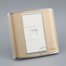 Wall Plate RJ45 CAT6 Network Lan Socket  Champagne Outlet Panel Faceplate