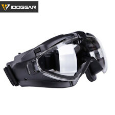 IDOGEAR Tactical Goggles Anti-fog Dust Lenses Outside Eyewear Windproof Military