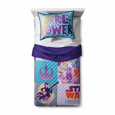 New Disney Star Wars Forces of Destiny Reversible Purple Quilt Set (Twin/Full)