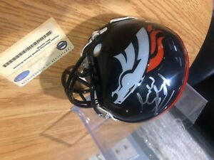 Peyton Manning autographed mini helmet w COA