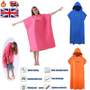 Unisex Adult Changing Robe Towel Beach Bath Hooded Quick Dry Poncho Bathrobe Hot