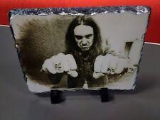 "Cliff Burton Metallica Arte Retrato en pizarra 12x8"" rara Coleccionables Memorabilia"