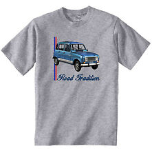 RENAULT 4L INSPIRED - NEW COTTON GREY TSHIRT - ALL SIZES IN STOCK