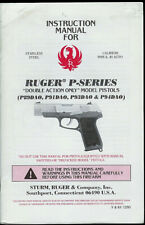 1993 Ruger P-Series Double Action Only Semi Automatic Pistol Rare Owner's Manual
