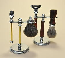 GILLETTE MACH 3 RAZOR AND BADGER BRUSH WITH DELUXE STAND KIT FOR WOODWORKERS-