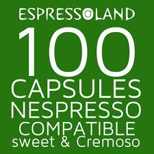 100 coffee pods compatible Nespresso machines - capsules Cremoso