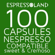 100 coffee pods compatible Nespresso machines - capsules Sweet & Cremoso