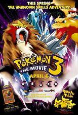 Pokemon 3 - original DS movie poster - D/S 27x40 2001