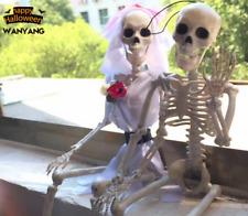 1PC Human Skeleton Bones Real Life Size Hanging Halloween Props Decoration House