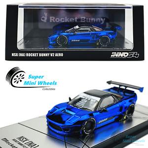 INNO64 1:64 Honda NSX [NA] Rocket Bunny V2 AERO (Chrome Blue)