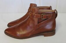 MADEWELL THE HOLLIS BOOT SHOES LEATHER ANKLE ENGLISH SADDLE SIZE 9 F5108 $218