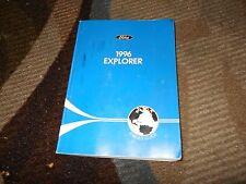 1996 FORD EXPLORER FACTORY ORIGINAL OWNERS OPERATORS MANUAL GUIDE BOOK